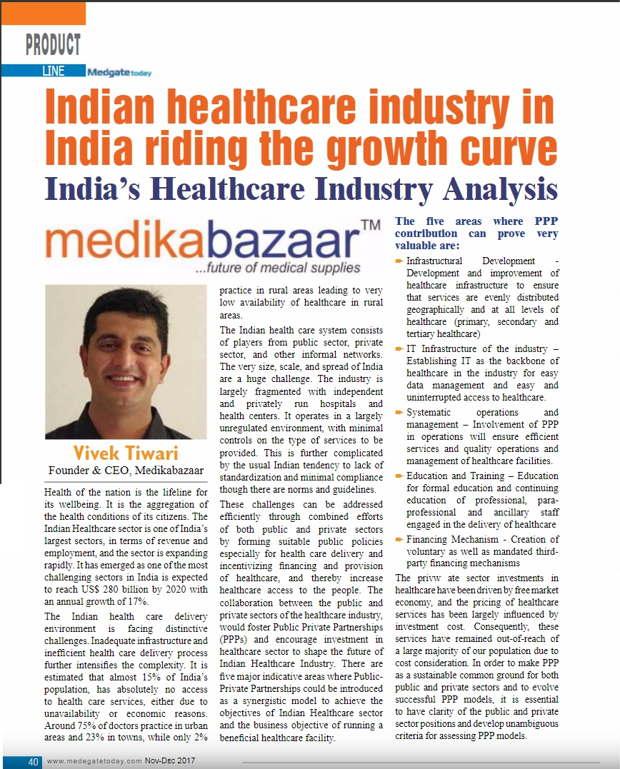 Indian Healthcare Industry In India Riding The Growth Curve India's Healthcare Industry Analysis