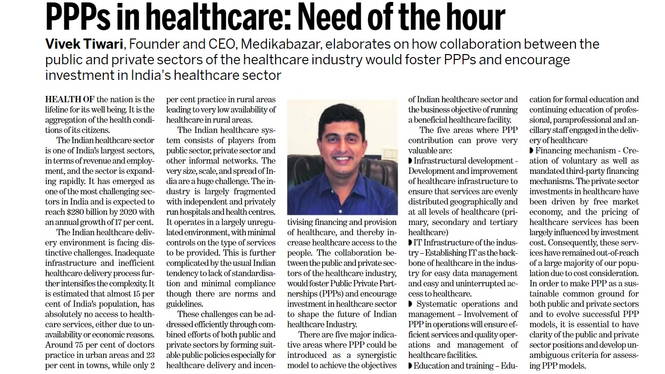 PPPs in healthcare - Need of the hour - Express Healthcare