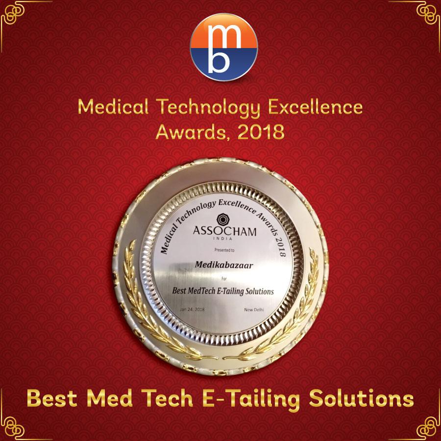 Medikabazaar is awarded Best MedTech E-Tailing Solutions,2018